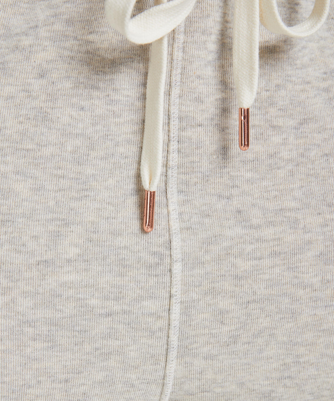Joggingbyxor i borstad sweatshirt – Petite, Grå, main