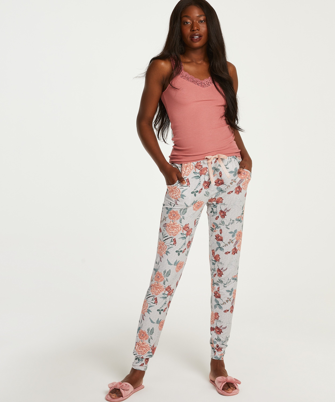 Tall Jersey Sage pyjamasbyxor, Grå, main