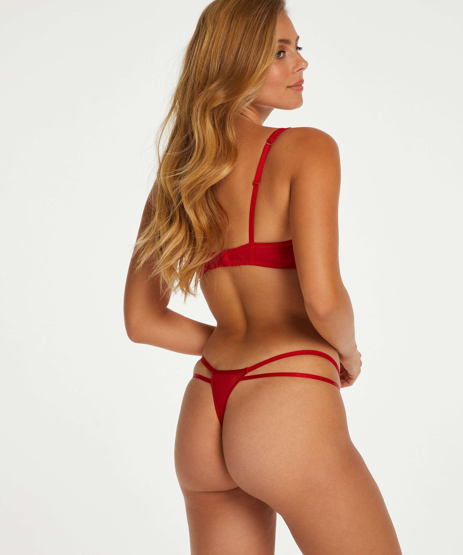 Leyla tanga-stringtrosa, röd, main