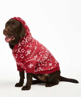 Onsie i fleece för hundar, röd