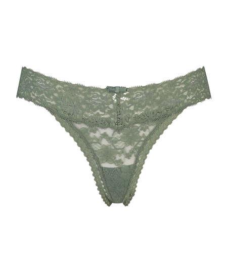 Extra låg stringtrosa V-shape, grön