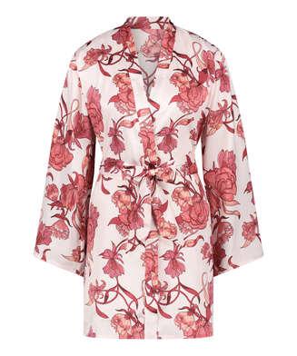 Kimono med zinnia, Rosa
