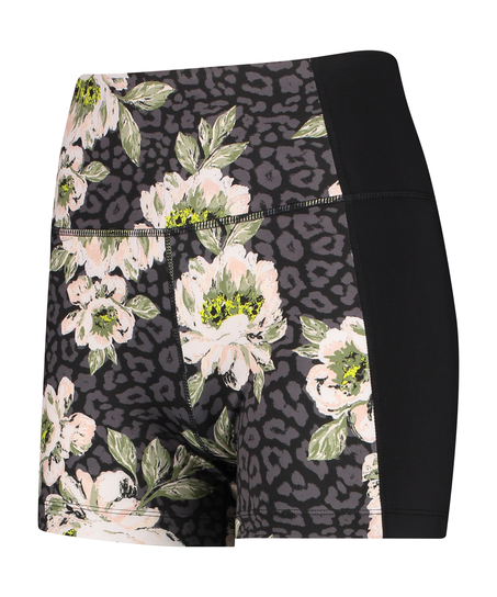 HKMX shorts med hög midja, Svart
