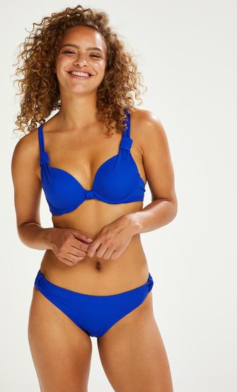 Luxe push-up bikini-överdel Storlek A - E, blå
