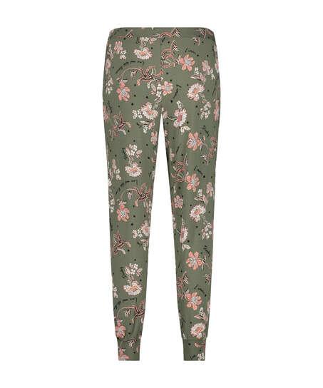Jersey pyjamasbyxor, grön