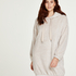Snuggle fleece klänning, Beige