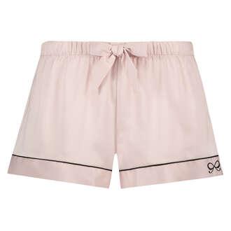 Pyjamas short satin lace, Rosa