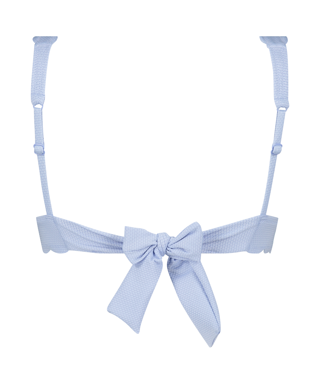 Scallop triangel-bikiniöverdel, blå, main
