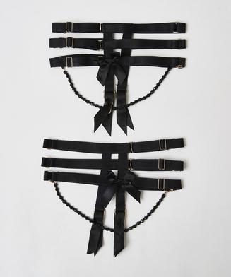 Strumpebandshandklovar från vår Private Collection, Svart