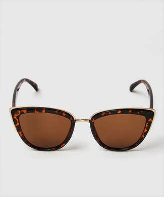 Cat Eye solglasögon, Brun