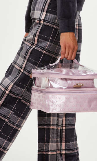 3-pack makeupväska, Rosa