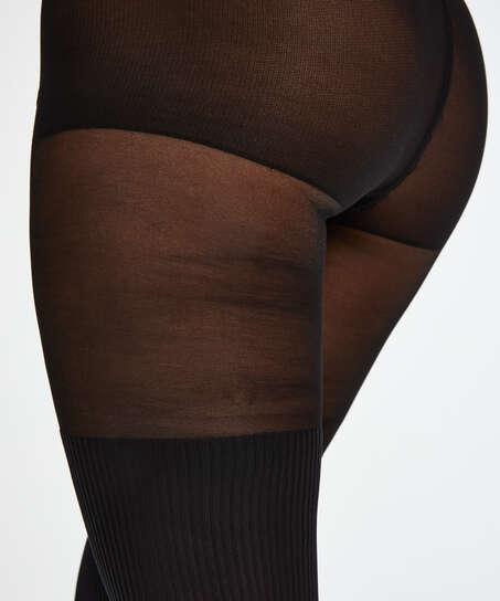 Strumpbyxa 50 Denier Overknee sock, Svart