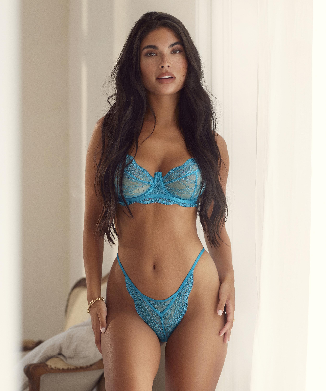 Isabelle stringtrosa, blå, main