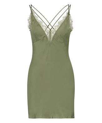 Satin Lily underklänning, grön