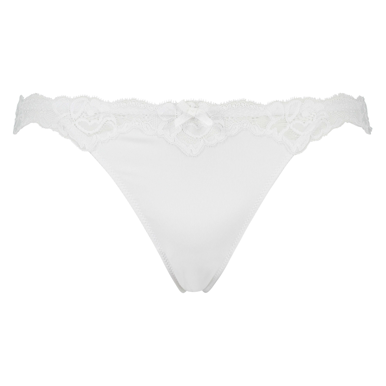 Stringtrosa Secret lace, Vit, main