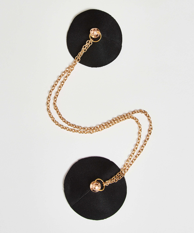 Nipple-covers Private Chain, Svart, main