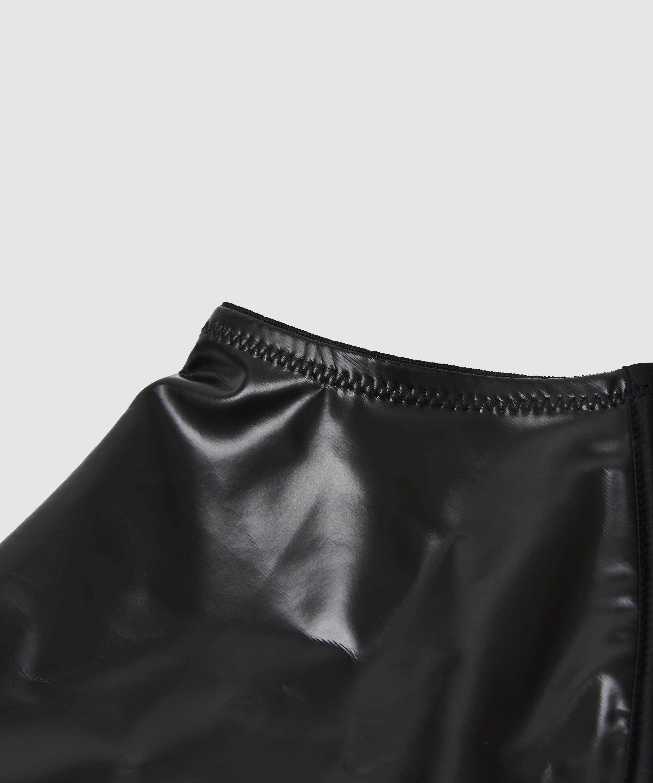 Läderliknande strumpeband från Private-kollektionen, Svart, main
