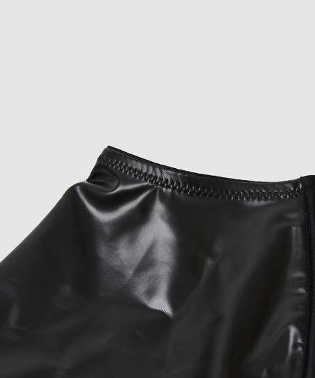 Läderliknande strumpeband från Private-kollektionen, Svart