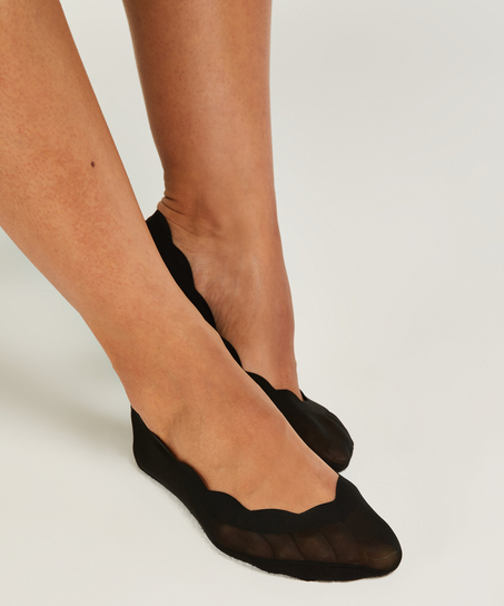 Lasercut footsie-strumpa (2 par), Rosa