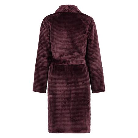 Ribbad badrock av fleece kort, röd
