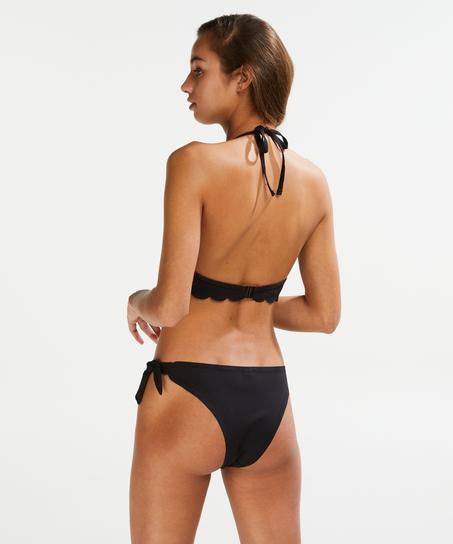 Formpressad push-up-bikinitopp Storlek A - E, Svart