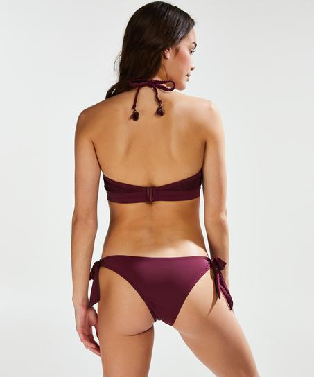 Djärv låg Borneo-bikiniunderdel i mesh, Lila
