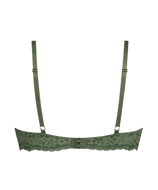 Formpressad pushup-behå Rose, grön, main