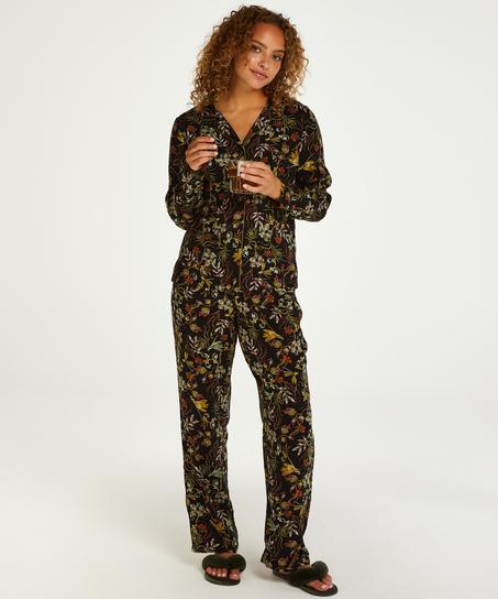 Dragonfly  långärmad pyjamastopp, Svart