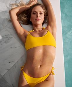 Napa bikini-crop top, Gul