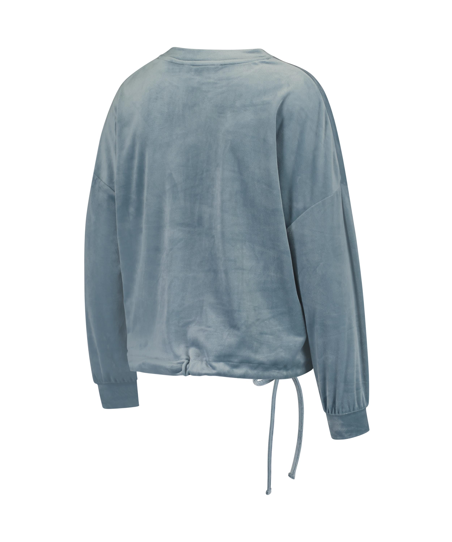 Mammatop i sammets, blå, main