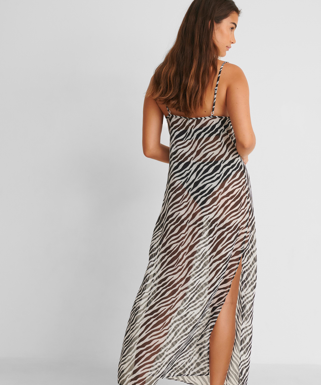 Strandklänning i midi-längd djursheer HKM x NA-KD, Vit, main