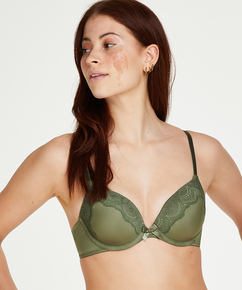 Gina formpressad bygel-bh, grön