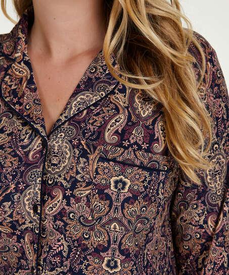 Paisleymönstrat pyjamasset, blå