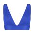 Deluxe triangel-bikiniöverdel, blå