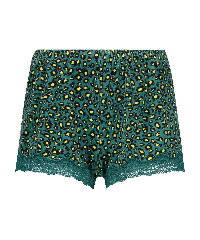 Shorts i sammet och spets Daisy, Grå, main