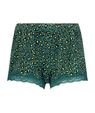 Shorts i sammet och spets Daisy, Grå