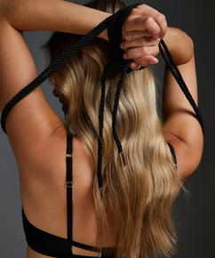 Body bondage-rep, Svart