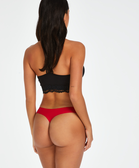 Stringtrosa Invisible Stripe Mesh, röd