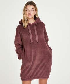 Snuggle fleece klänning, Rosa