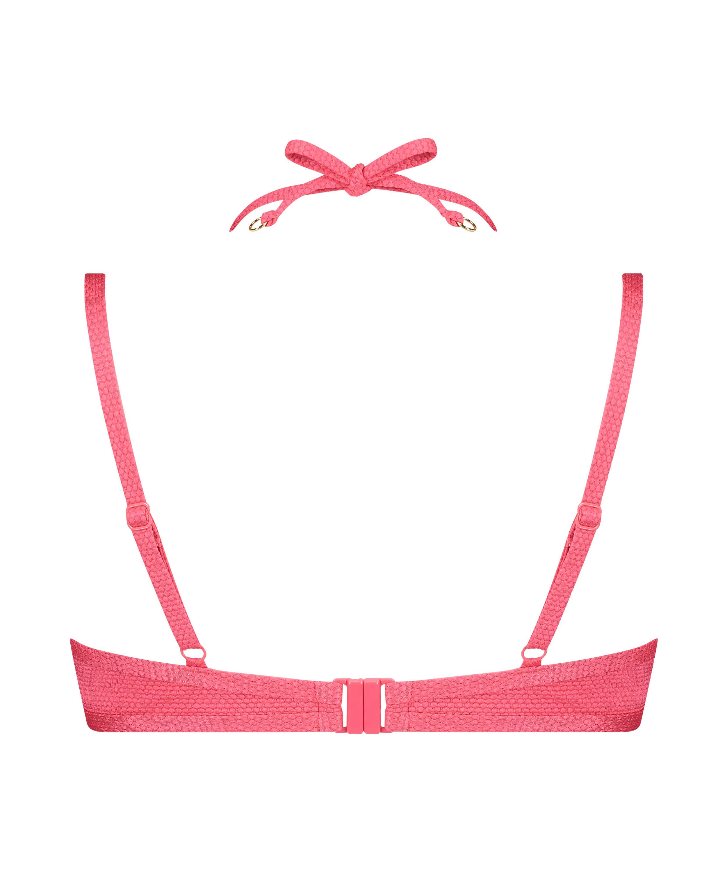 Formpressad bikiniöverdel med bygel Ruffle Dreams, Rosa, main
