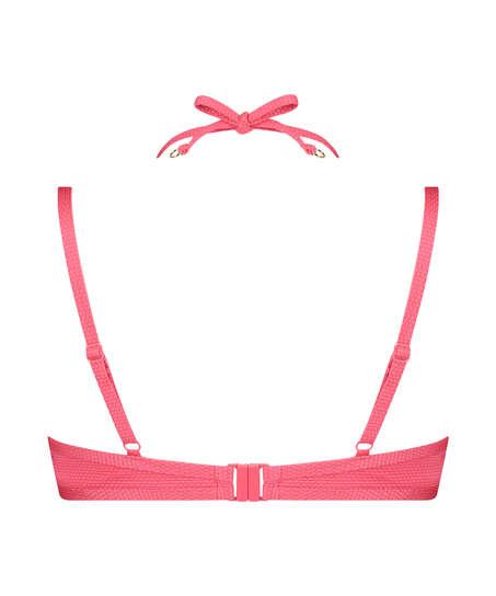 Formpressad bikiniöverdel med bygel Ruffle Dreams, Rosa