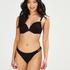 Crochet formpressad bikinitopp med bygel och push-up Storlek A - E, Svart