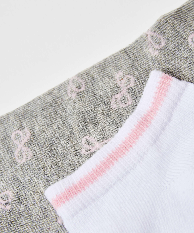 2-pack sneakerstrumpor Cotton , Grå, main