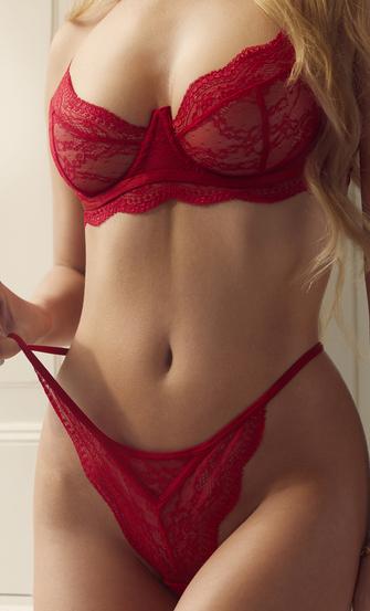 Isabelle stringtrosa, röd
