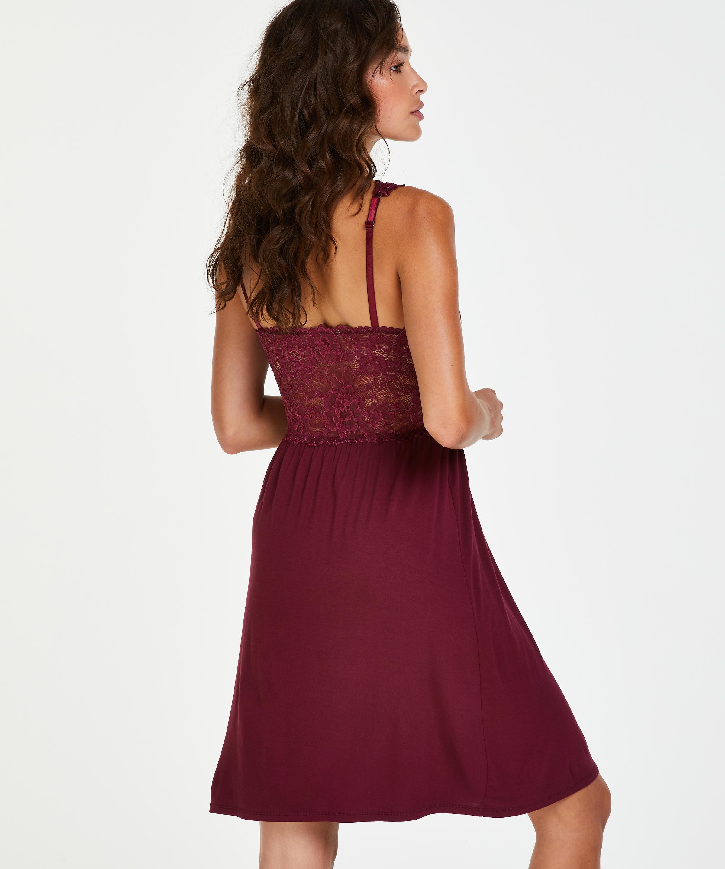 Nora Lace slipklänning, röd, main