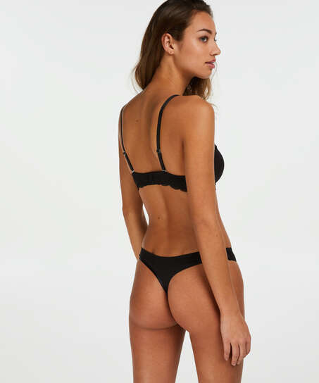 2-pack stringtrosor Angie, Svart