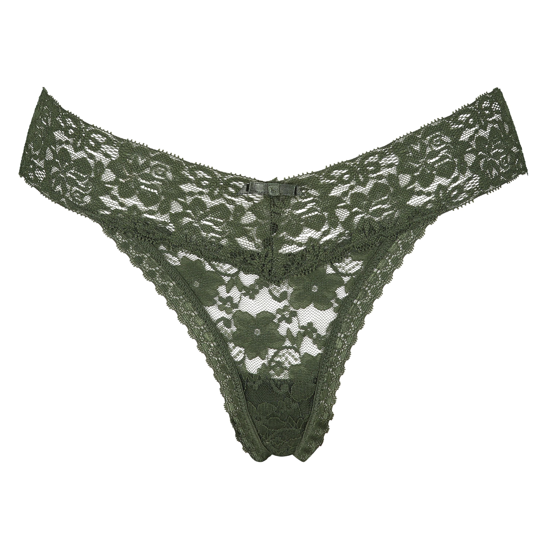 Stringtrosa Floral Lace , grön, main