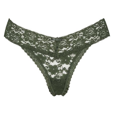 Stringtrosa Floral Lace , grön