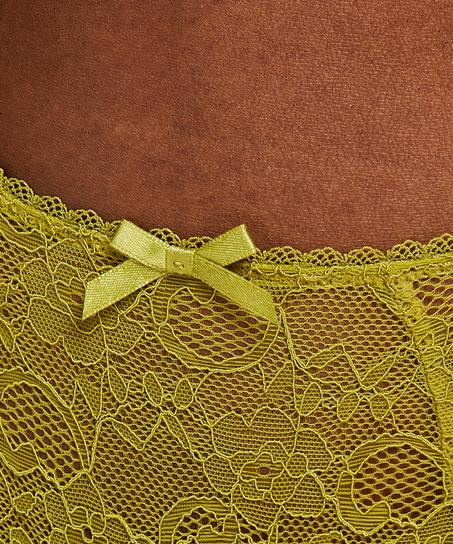 Riley högt skuren minibrazilian-trosa, grön