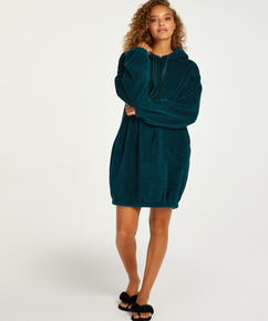 Snuggle fleece klänning, blå